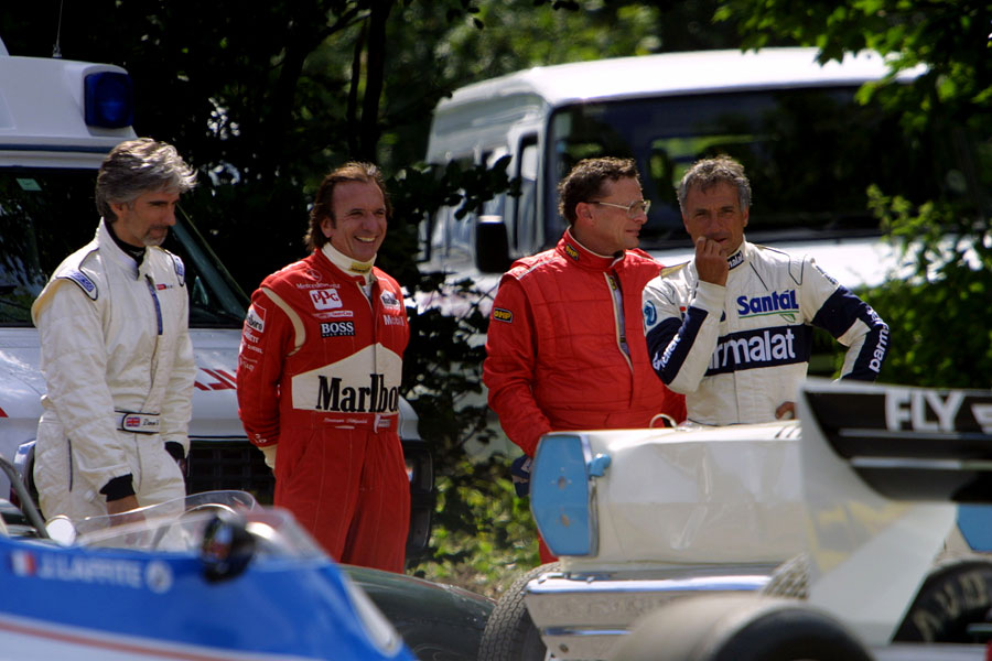 022 | 2004 | Goodwood | Festival Of Speed | Damon Hill + Emerson Fittipaldi + Riccardo Patrese | © carsten riede fotografie