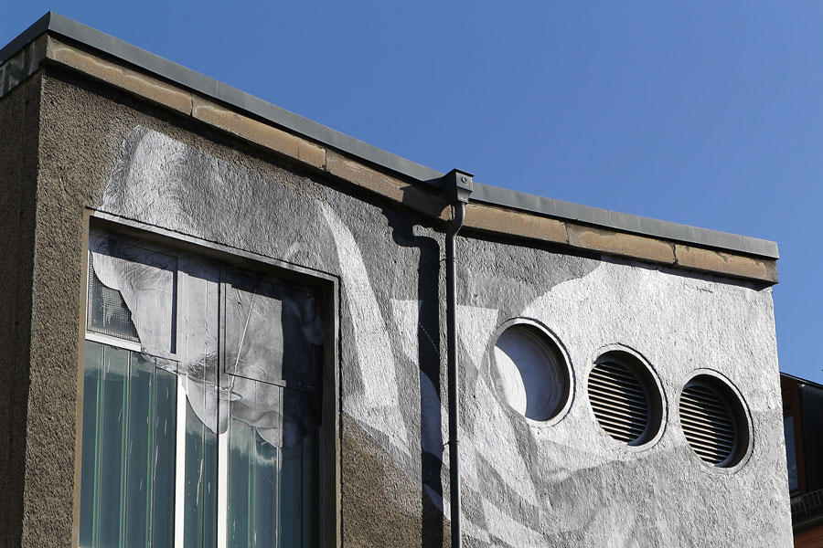 012 | 2013 | Berlin | JR – The Wrinkles Of The City | Auguststrasse | © carsten riede fotografie